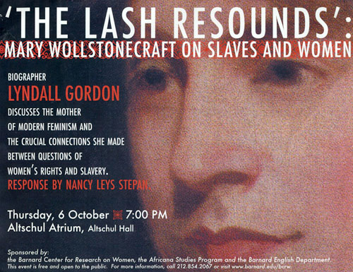 poster for the talk 'The Lash Resounds'
